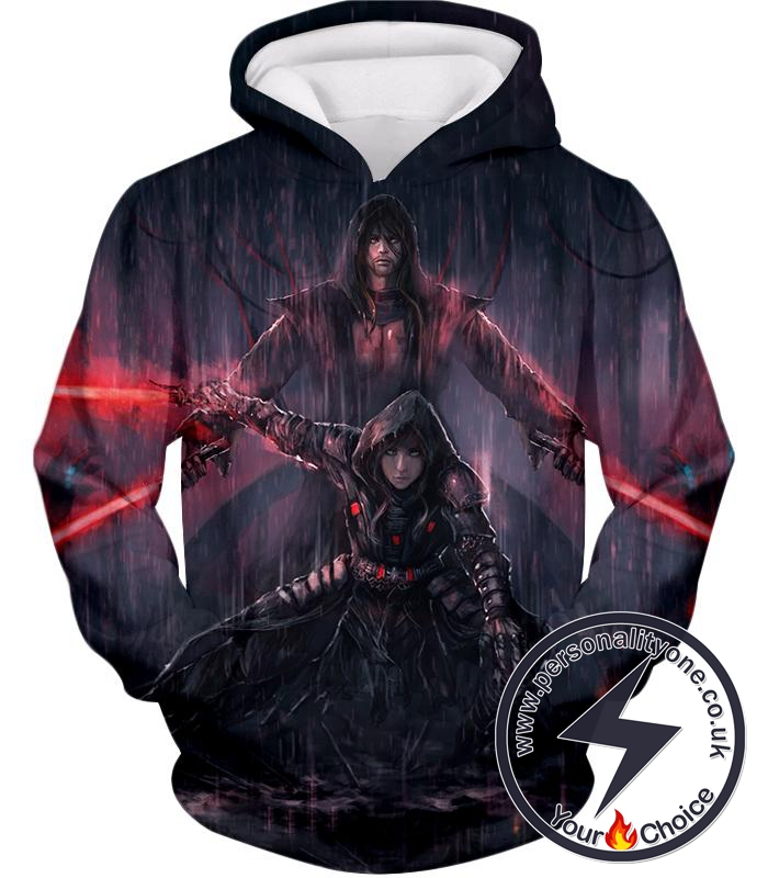 Star Wars Super Cool Star Wars Sith Lords Action Wallpaper Graphic Hoodie