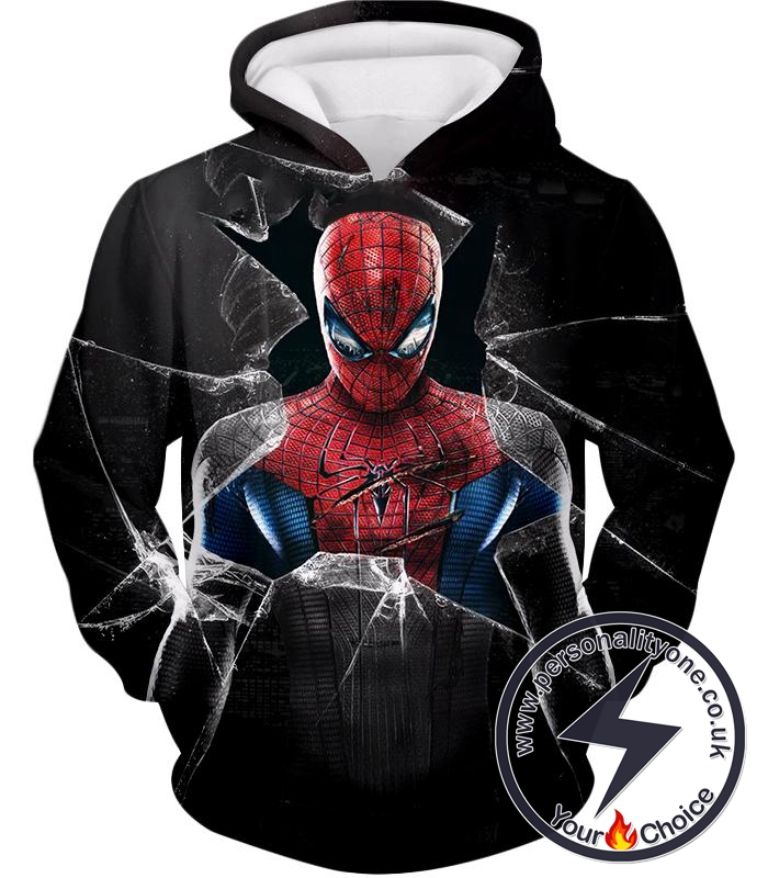 Super Cool The Amazing Spiderman Poster Black Hoodie
