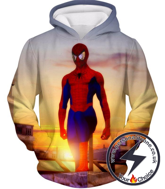 Superhero Spiderman From Dusk to Dawn Cool Hoodie