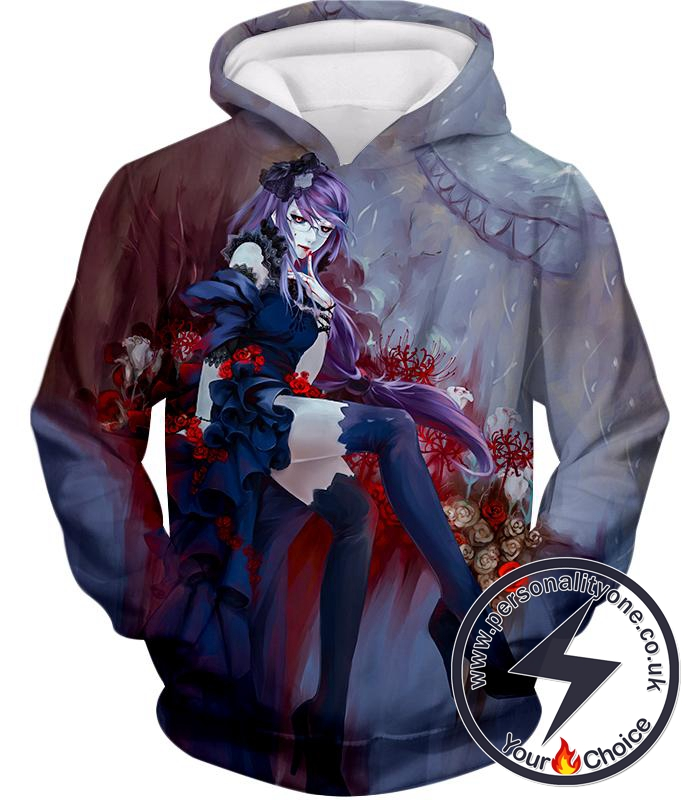 Tokyo Ghoul Beautiful and Dangerous Ghoul Rize Kamishiro Amazing Anime Art Printed Hoodie
