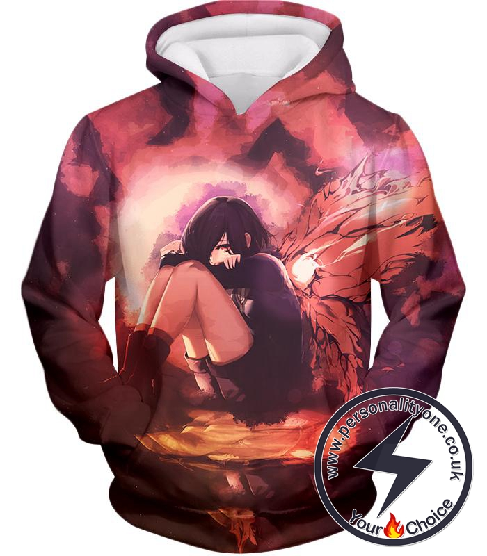 Tokyo Ghoul Protective and Caring Ghoul Kagune Winged Touka Hoodie