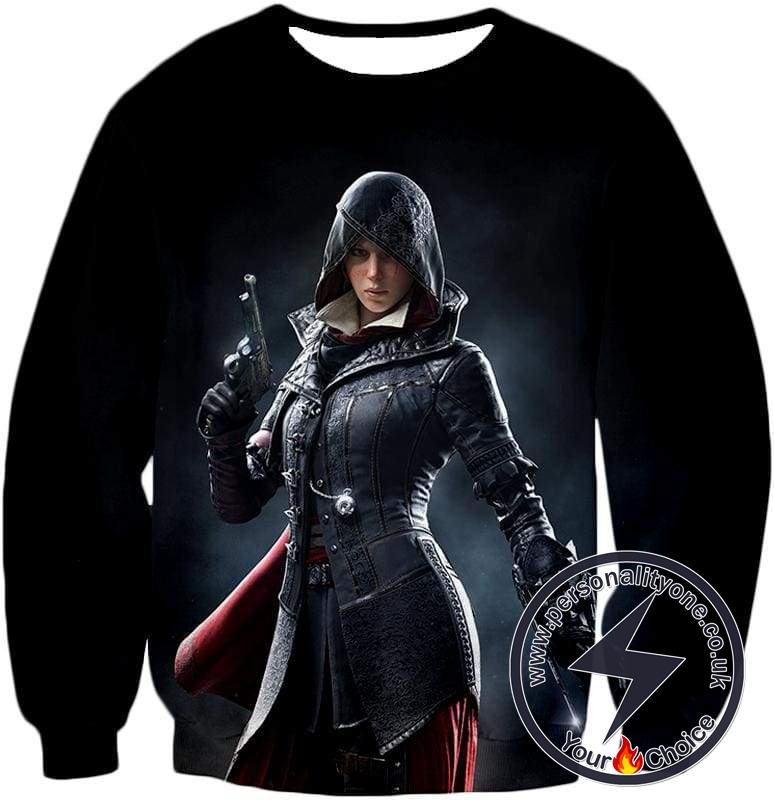 Amazing Syndicate Female Assassin Evie Frye Cool Black Sweatshirt