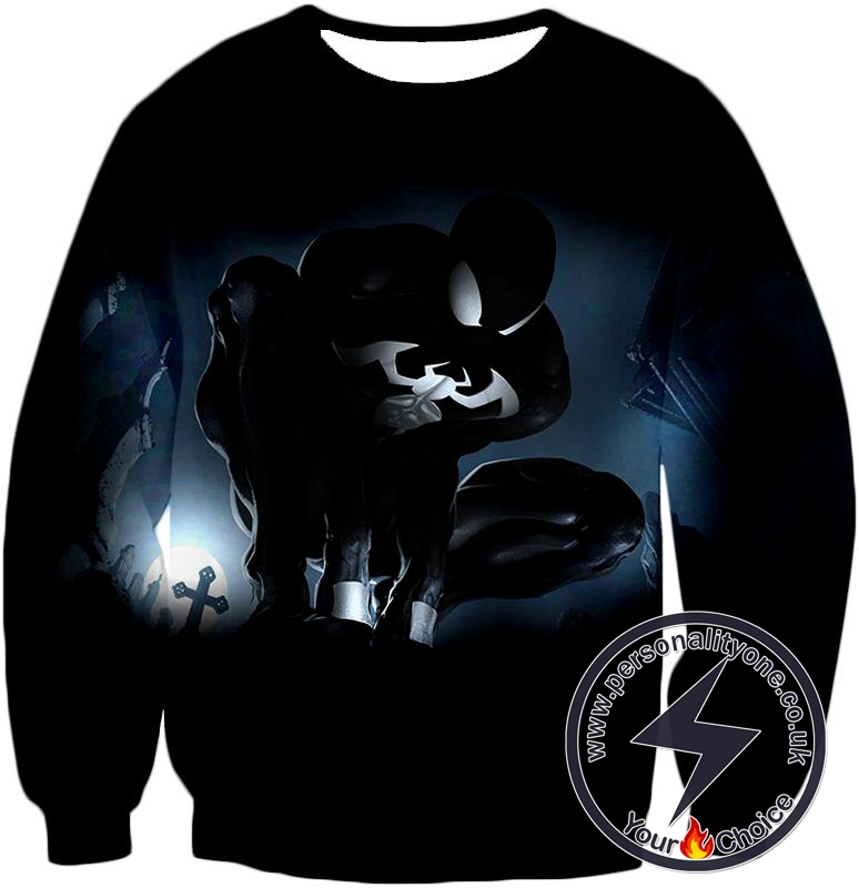Animated Black Spiderman Cool Action Sweatshirt