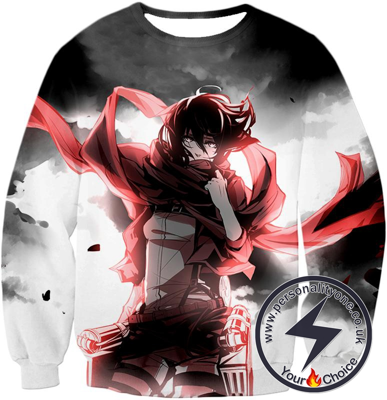 Attack on Titan Cool Survey Soldier Mikasa Ackerman Sweatshirt
