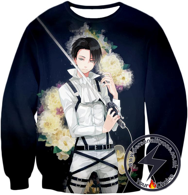 Attack on Titan Strongest Soldier Levi Ackerman Cool Anime Promo Sweatshirt