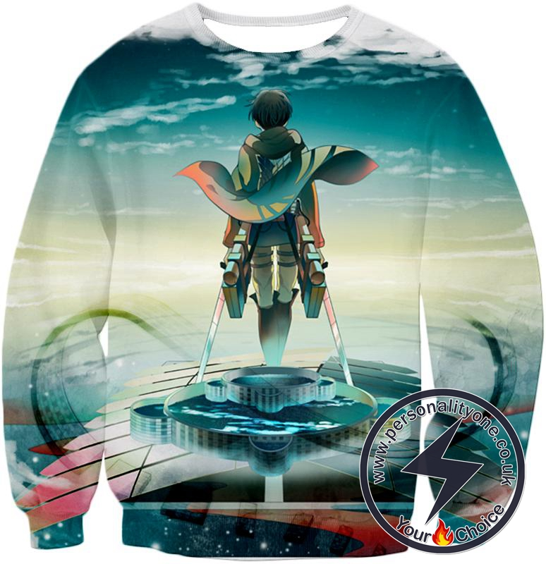 Attack on Titan Strongest Soldier of Humanity Captain Levi Ackerman Cool Graphic Sweatshirt