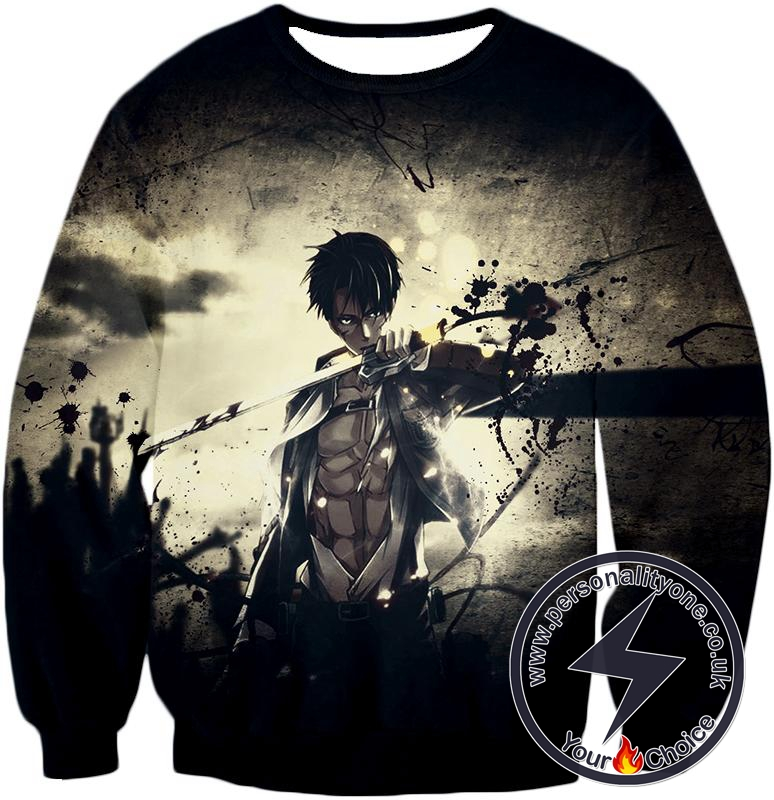 Attack on Titan The Survey Corps Wings of Freedom Blue Sweatshirt