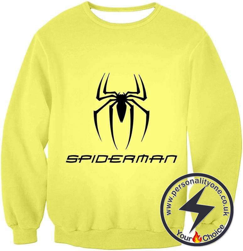 Awesome Spiderman Logo Promo Yellow Sweatshirt