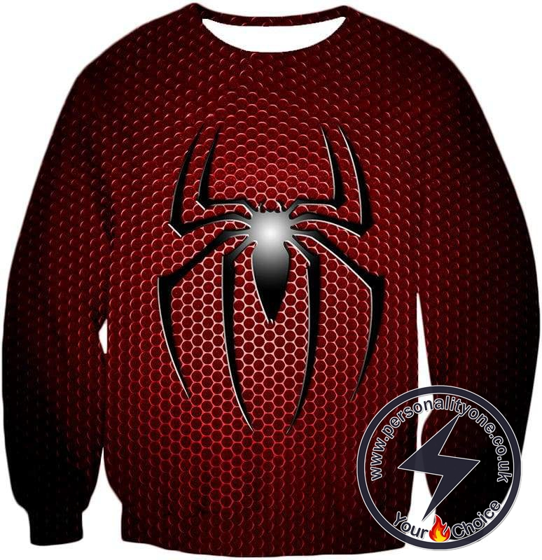 Awesome Spiderman Logo Red Spotted Sweatshirt