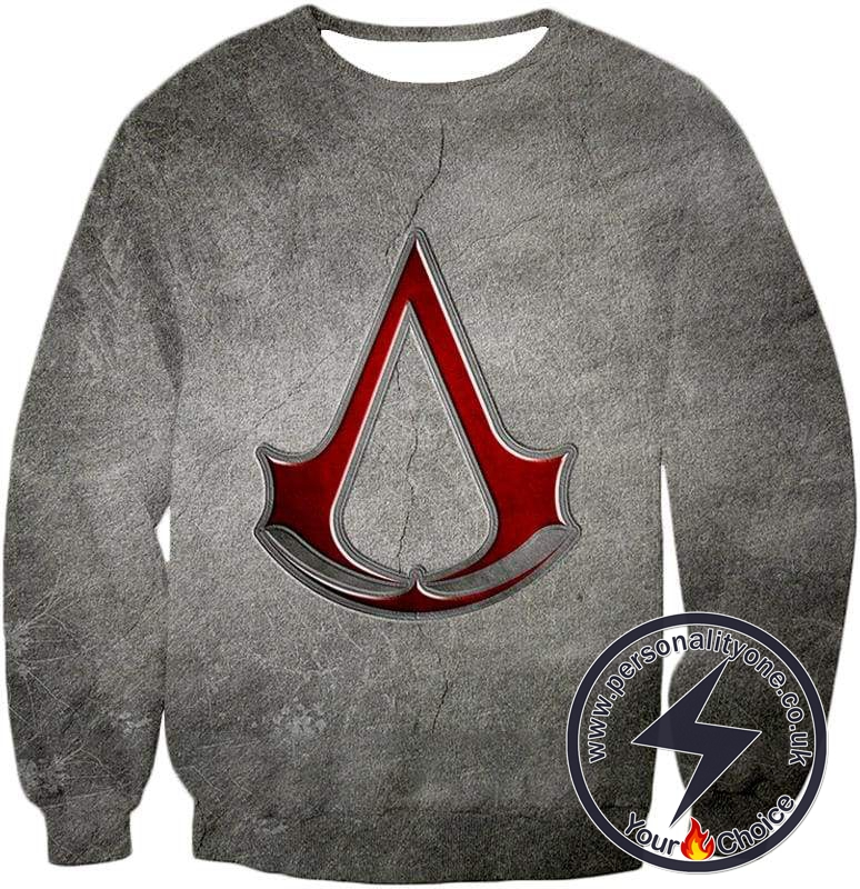 Cool Assassin's Creed Symbol Awesome Promo Grey Sweatshirt