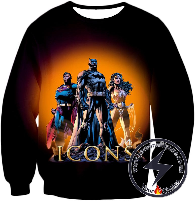 Cool Justice League Iconic Superheroes Awesome Graphic Promo Sweatshirt