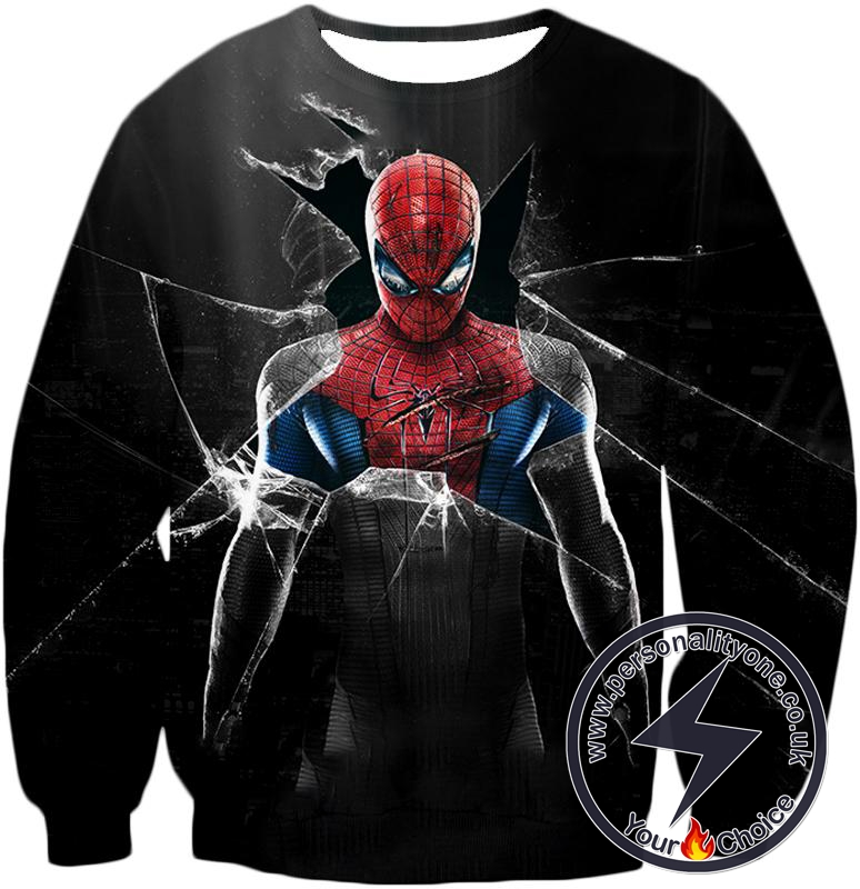 Cool Marvels Spider-Man Black Sweatshirt
