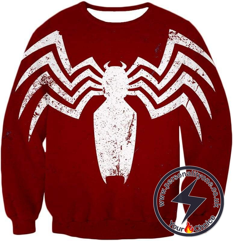 Cool Spiderman Logo Promo Red Sweatshirt