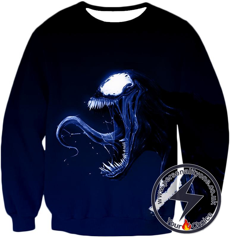 Cool Venom Printed Black Sweatshirt
