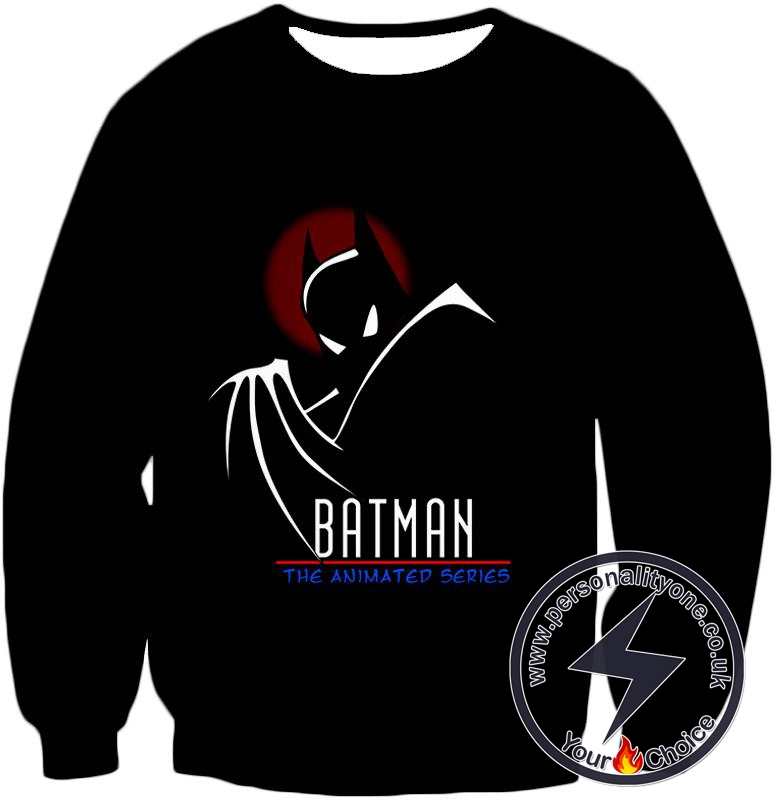 DC Comics Superhero Batman the Animated Series Promo Black Sweatshirt