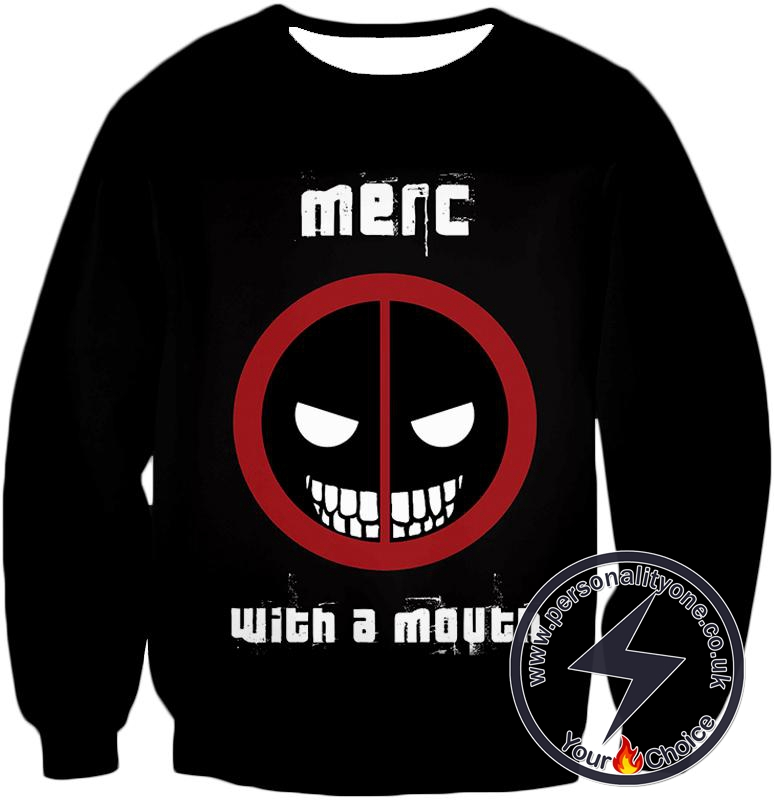 Deadpool Promo Merc With a Mouth Cool Black Sweatshirt