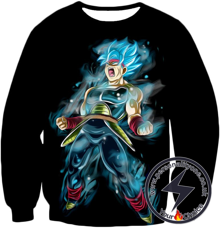 Dragon Ball Super Amazing Bardock Super Saiyan Blue Cool Black Action Sweatshirt
