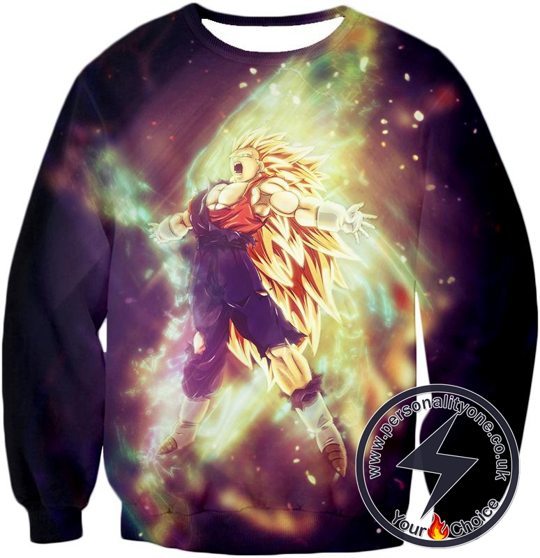 Dragon Ball Super Amazing Fusion Vegito Super Saiyan 3 Form Awesome Graphic Action Sweatshirt