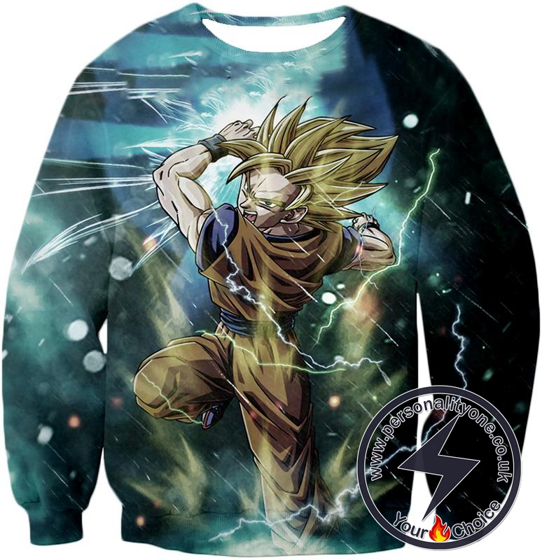 Dragon Ball Super Amazing Goku Super Saiyan 2 Action Anime Sweatshirt