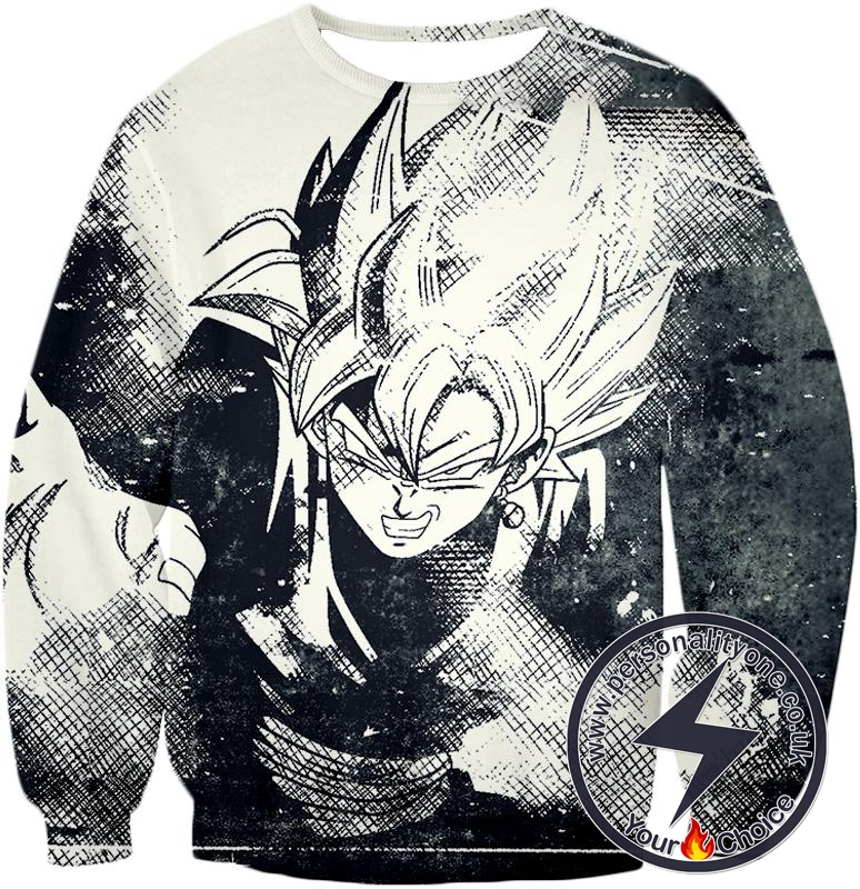 Dragon Ball Super Awesome Dragon Ball Super Villain Zamasu Cool Sketch Promo White Sweatshirt