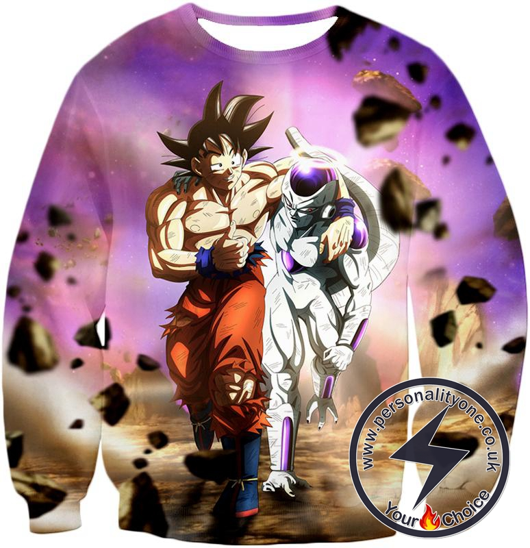 Dragon Ball Super Awesome Fighters Goku X Frieza Amazing Graphic Anime Sweatshirt