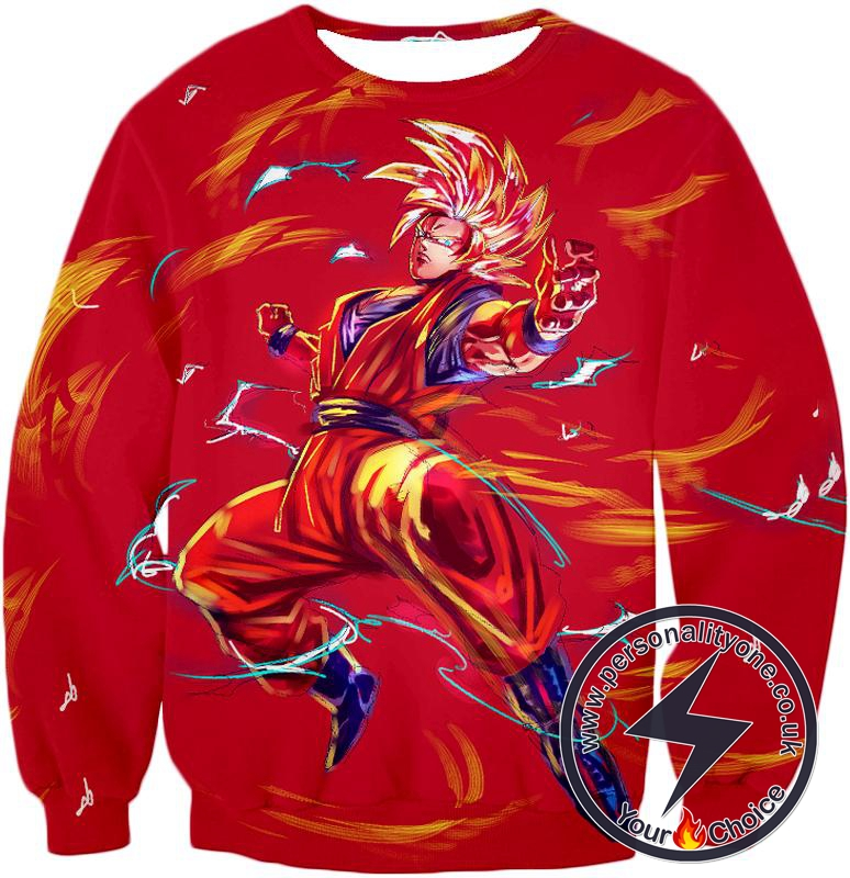 Dragon Ball Super Awesome Goku Super Saiyan Action Anime Graphic Sweatshirt
