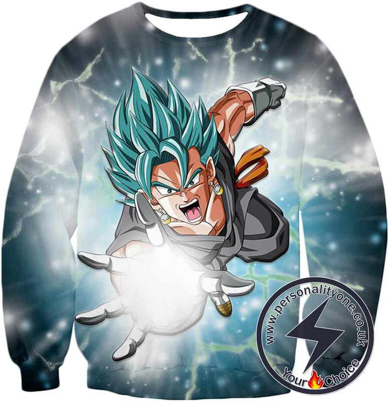 Dragon Ball Super Awesome Vegito Godly Power Super Saiyan Blue Cool Action Sweatshirt