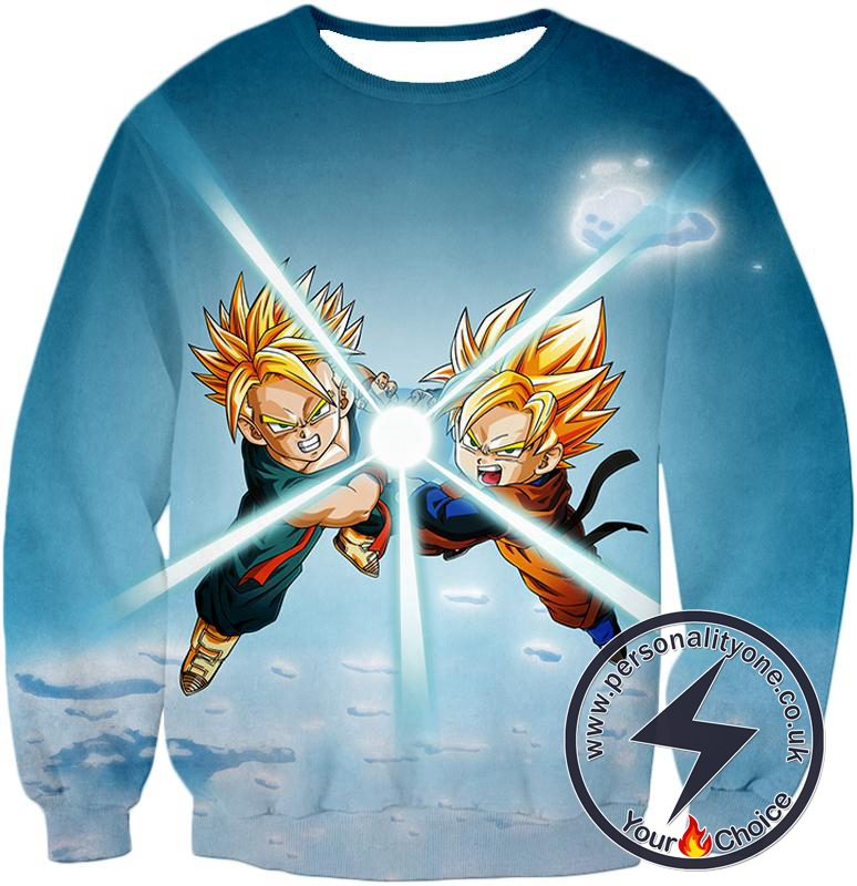 Dragon Ball Super Cool Saiyans Gotan x Trunks Blast Action Sweatshirt