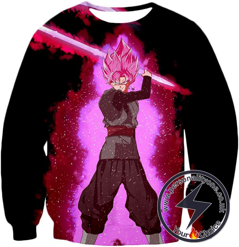 Dragon Ball Super Dangerous Evil Zamasu Super Saiyan Rose Action Cool Black Sweatshirt