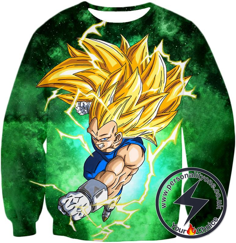 Dragon Ball Super Fierce Warrior Vegeta Super Saiyan 3 Awesome Action Promo Sweatshirt