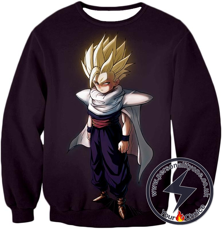 Dragon Ball Super Gohan Super Saiyan Full Power Form Cool Promo Black Sweatshirt