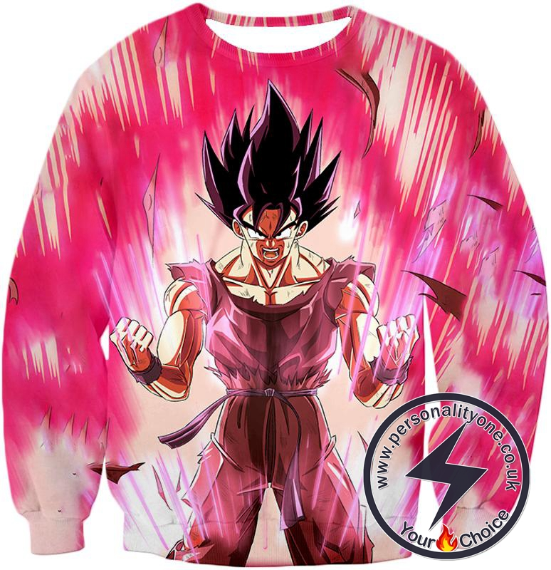 Dragon Ball Super Harnessing Ultimate Power Goku Rising Cool Graphic Promo Sweatshirt