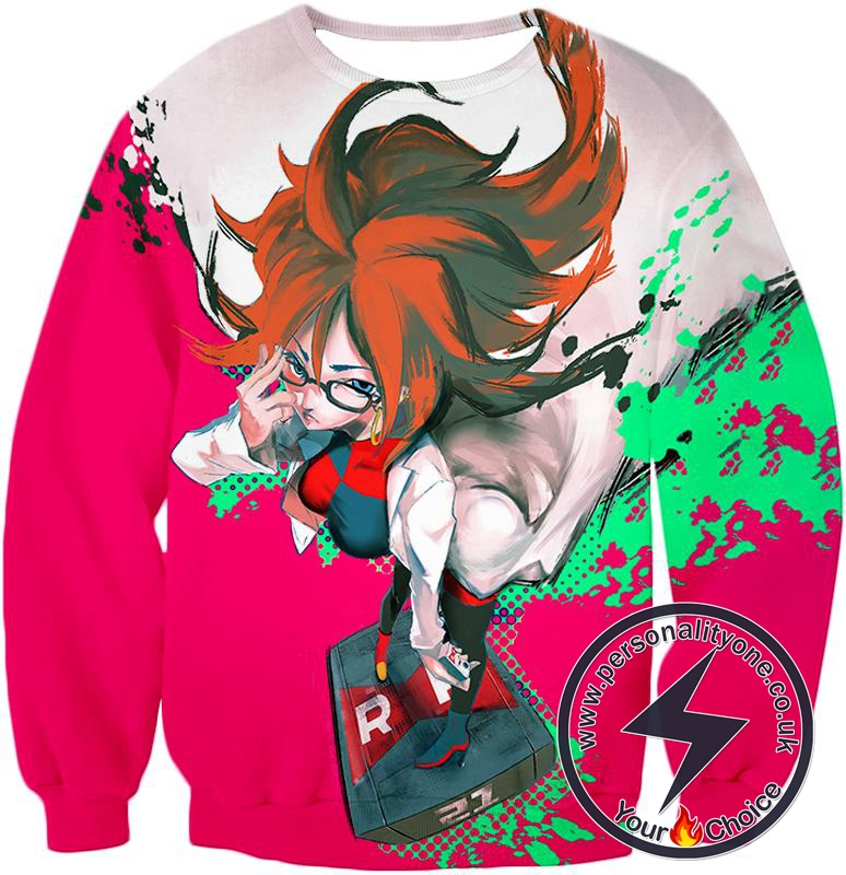 Dragon Ball Super Incredibly Intelligent Android 21 Cool Anime Promo Sweatshirt
