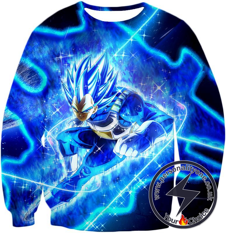 Dragon Ball Super Prince Vegeta Super Saiyan Blue Ultimate Anime Graphic Action Sweatshirt