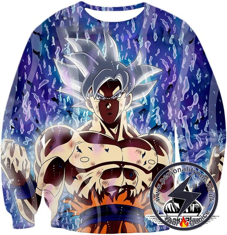 Dragon Ball Super Super Cool White Haired Goku Limit Breaker Awesome Action Sweatshirt