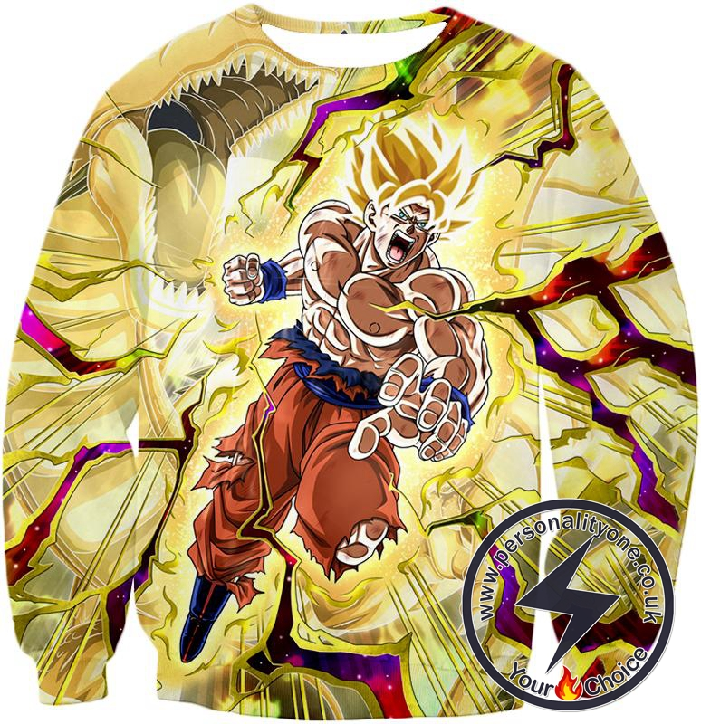 Dragon Ball Super Super Saiyan 2 Goku Incredible Power Action Cool Graphic Sweatshirt