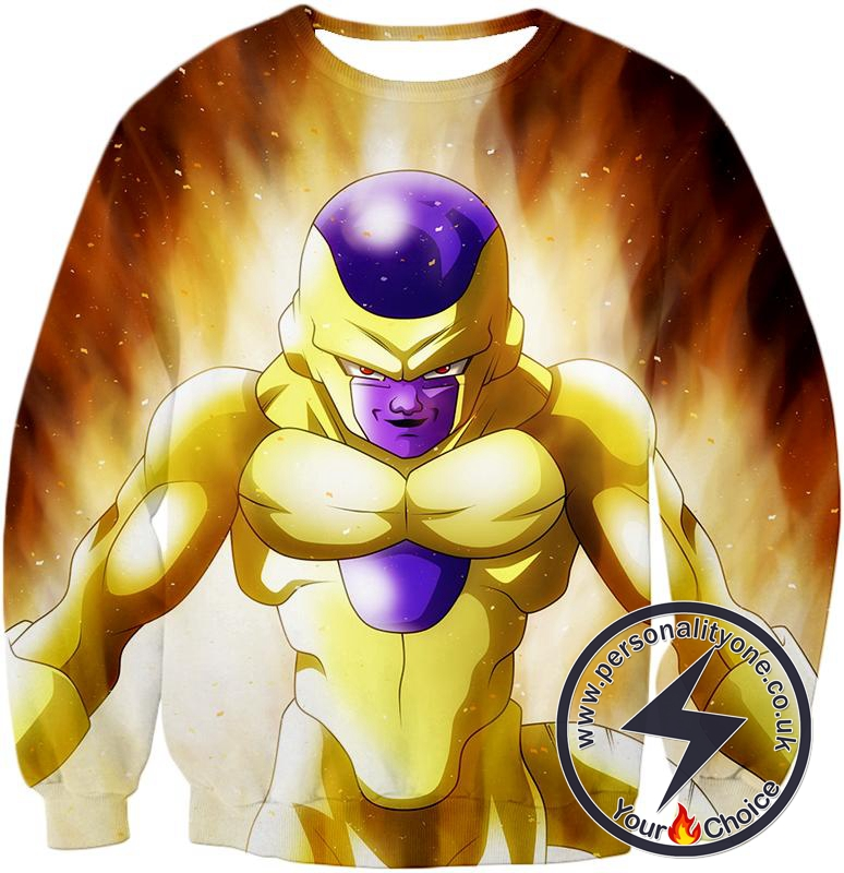 Dragon Ball Super Ultimate Form Golden Frieza Cool Promo Anime Sweatshirt