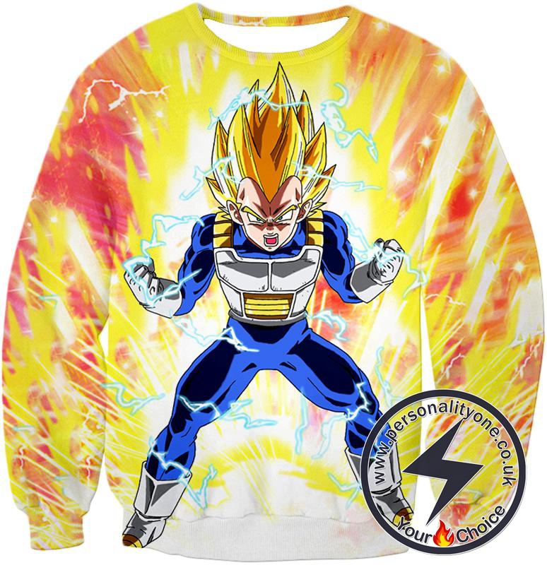 Dragon Ball Super Ultimate Warrior Vegta Super Saiyan 2 Amazing Power Action Sweatshirt