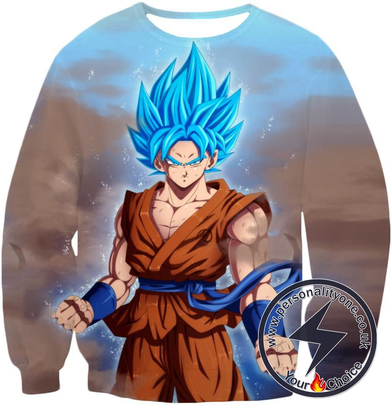 Dragon Ball Z Sweatshirt - SSJ Blue Super Saiyan Blue Goku
