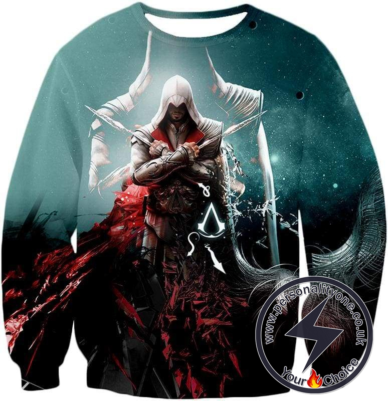 Ezio Auditore the Ultimate Assassin Cool Graphic Action Sweatshirt