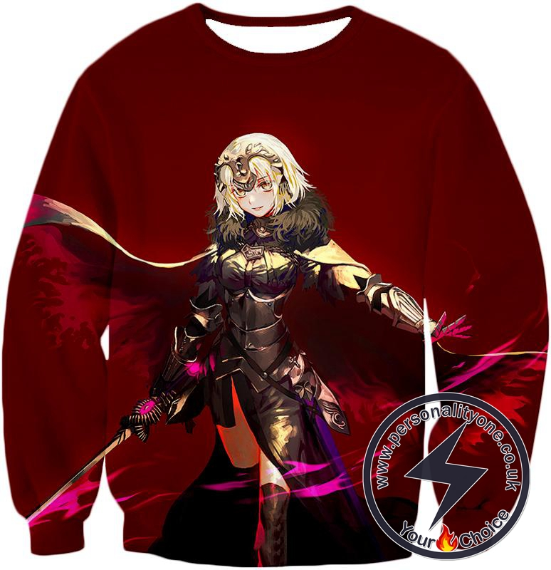 Fate Stay Night Beautiful Blonde Jeanne Red Action Sweatshirt