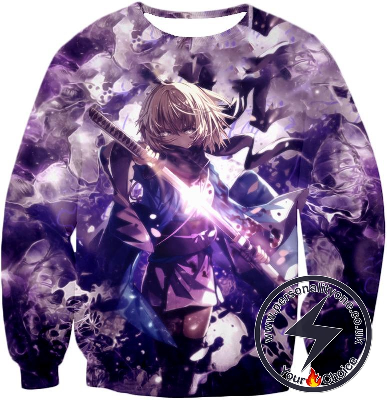 Fate Stay Night Grand Order Deadly Fighter Saber Sakura Action Sweatshirt