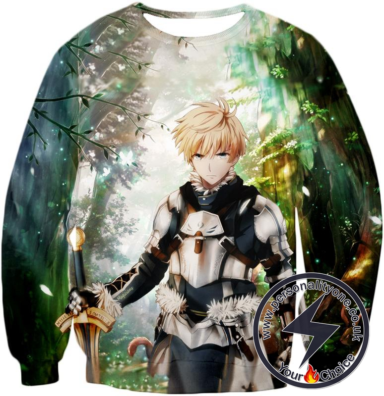 Fate Stay Night Saber Class Male King Arthur Awesome Sweatshirt