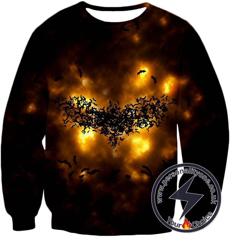 Fearless Hero Symbol Batman Logo Cool Graphic Sweatshirt