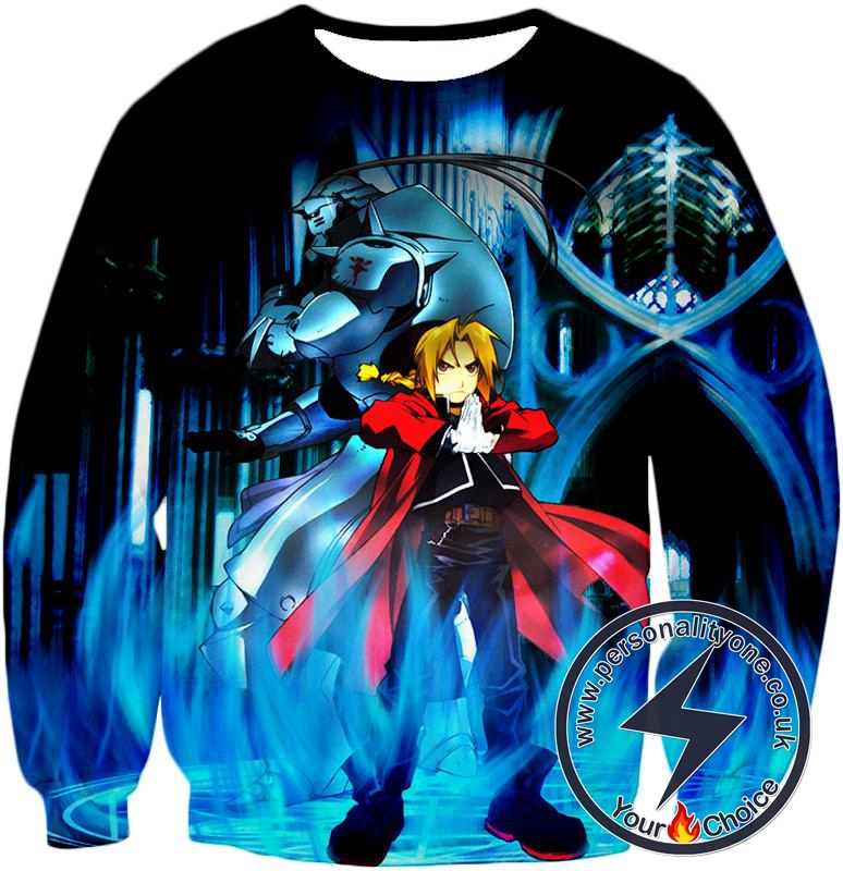 Fullmetal Alchemist Brothers Forever Edward Elrich x Alponse Elrich Cool Anime Action Sweatshirt