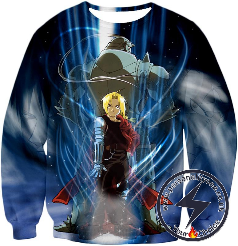 Fullmetal Alchemist Brothers Together Edward x Alphonse Ultimate Anime Action Sweatshirt