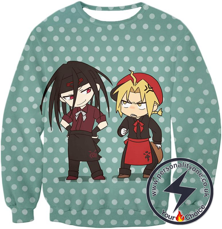 Fullmetal Alchemist Fullmetal Alchemist Super Cute Anime Illustrations Envy x Edward Awesome Sweatshirt