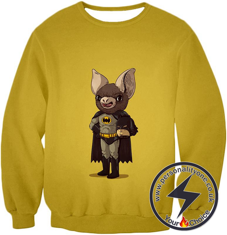 Funny Batman Promo Fan Art Yellow Sweatshirt