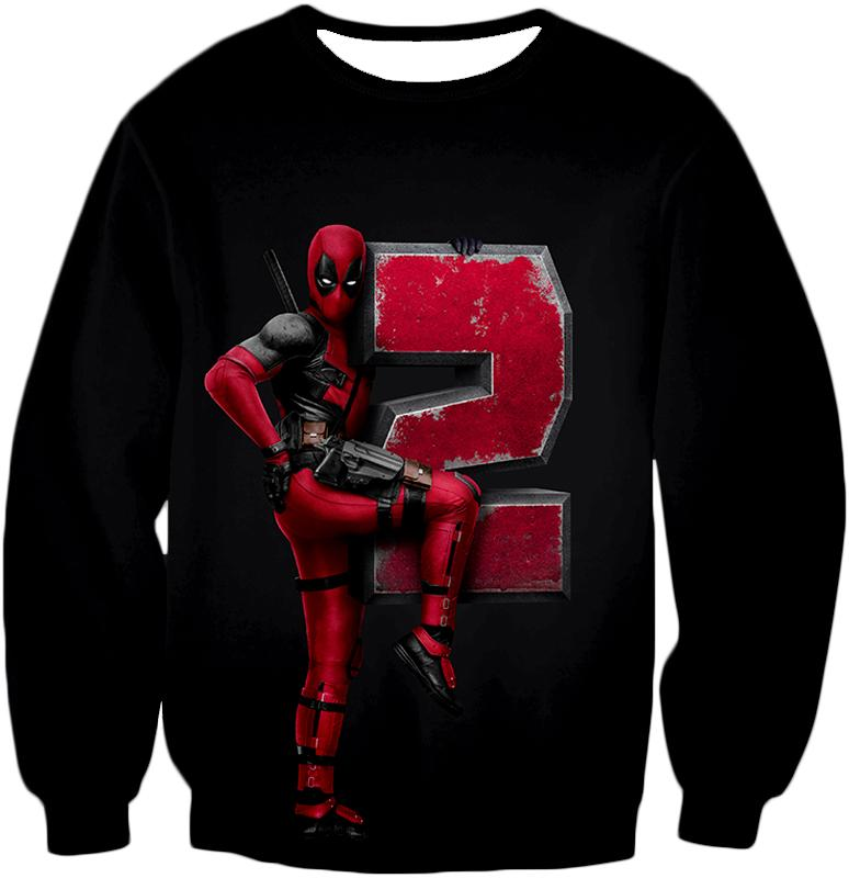 Marvel's Awesome Movie Deadpool 2 Promo Black Sweatshirt