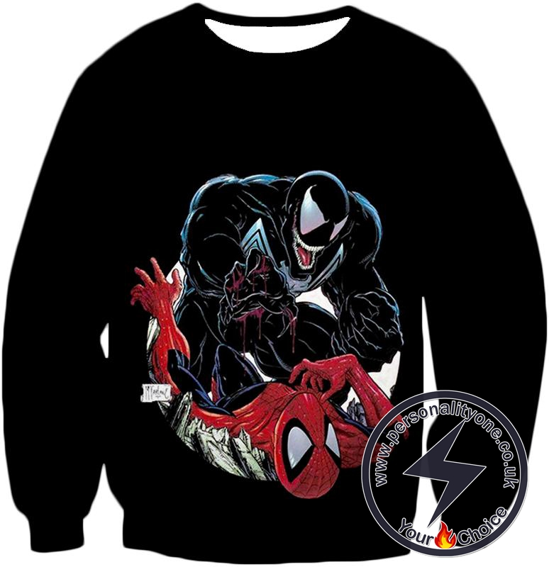 Marvels Venom Vs Spider-Man Black Sweatshirt